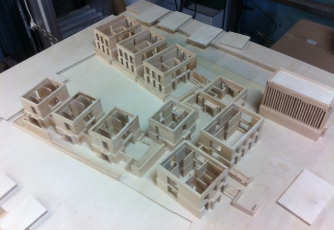 Presentatiemaquette in opbouw schaal 1:100  (beeld VANDERSALM-aim)